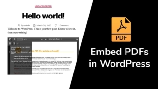 How to embed PDFs in WordPress