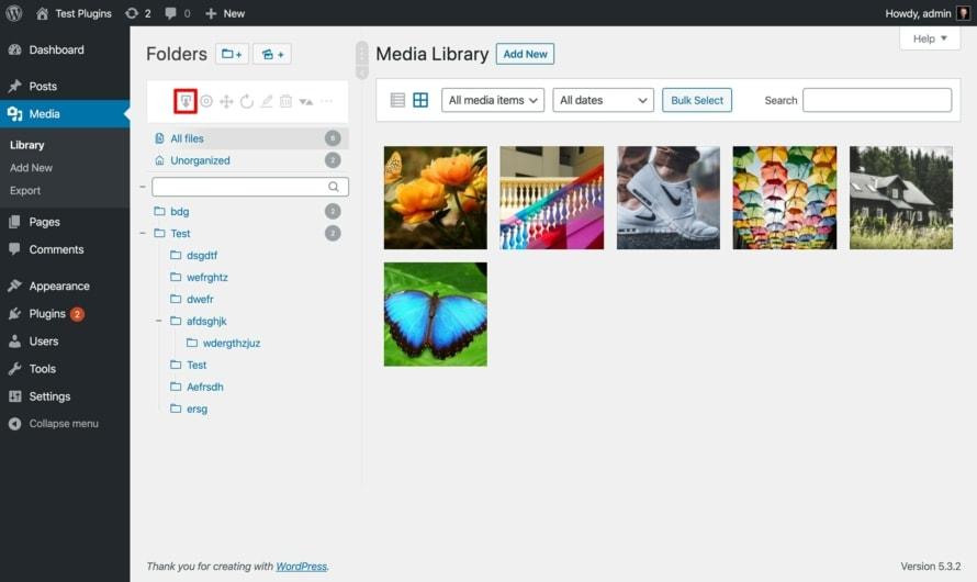 Öffne den Export WordPress Medienbibliothek Dialog mit Real Media Library