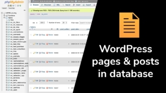 Wordpress pages and posts in database