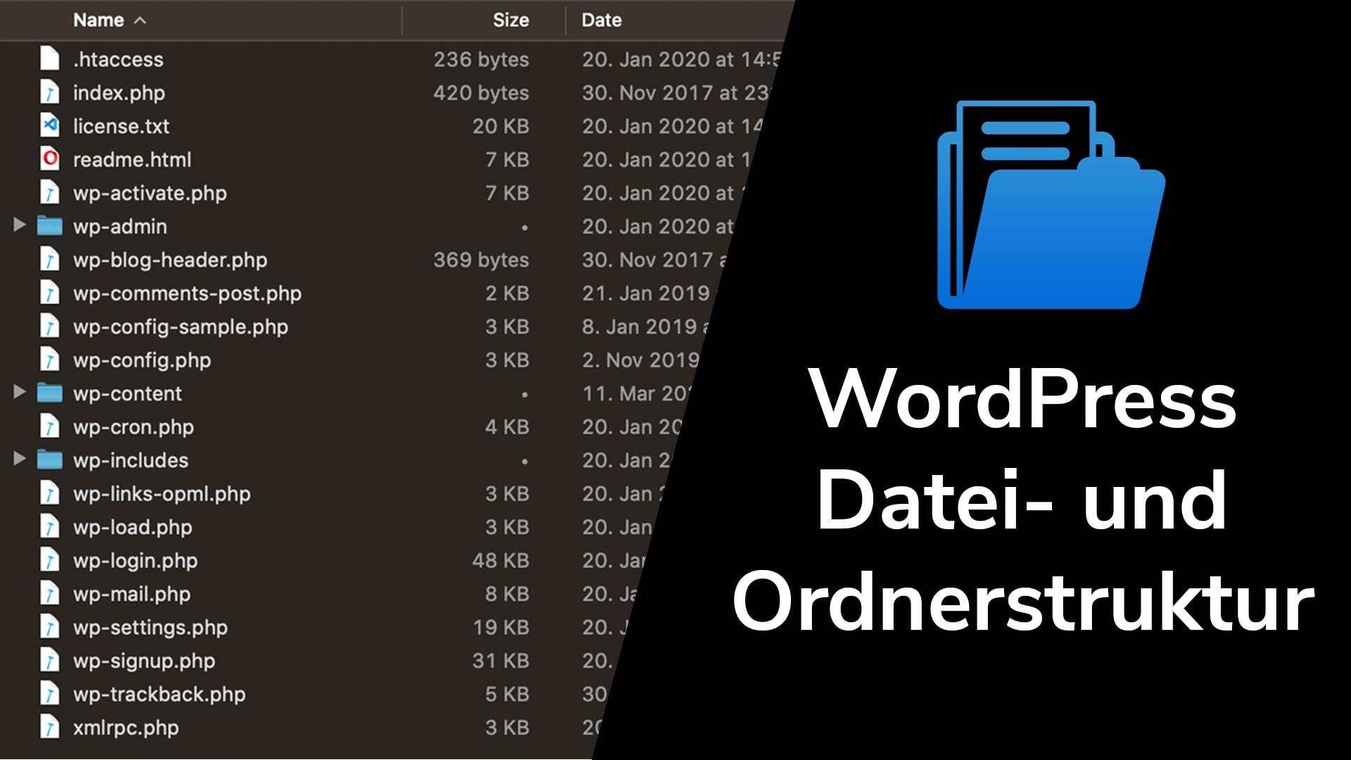 WordPress-Ordnerstruktur: wp-content/ Ordnerstruktur
