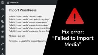 WordPress error – failed to import media