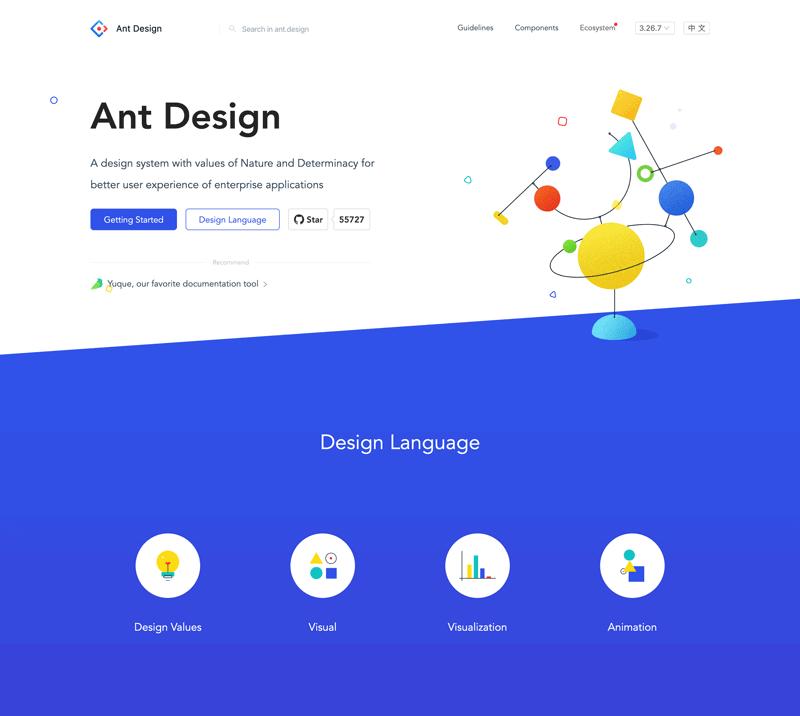 Ant Design website screenshot