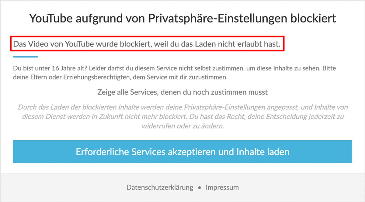 Beschreibung wird im Content Blocker angezeigt
