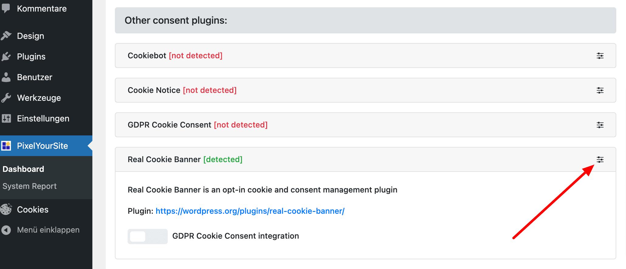 Consent Plugins Integration