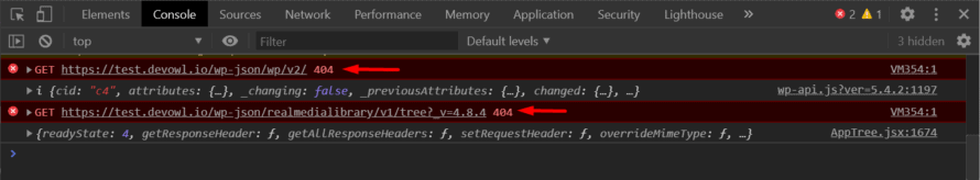 WordPress REST API is not reachable: Detected in the browser console